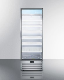 Full-size Pharmaceutical All-refrigerator With A Glass Door, Lock, Digital Thermostat, and A Stainless Steel Interior and Exterior Cabinet