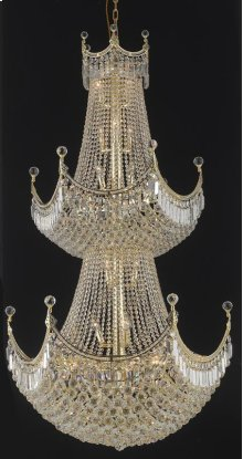 8949 Corona Collection Large Hanging Fixture Gold Finish