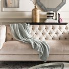 Liliana Knit Throw - Dull Blue / Natural Product Image