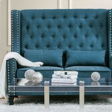 Alicante Love Seat Bench, Dark Teal