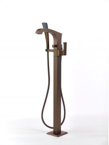 Leyden Floor-mount Tub Filler - Bronze