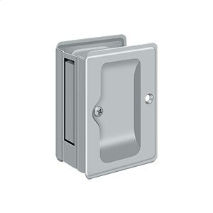 "HD Pocket Lock, Adjustable, 3 1/4""x 2 1/4"" Passage - Brushed Chrome"