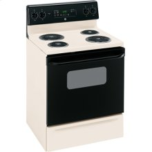 """GE® 30"""" Free-Standing Electric Range (This is a Stock Photo, actual unit (s) appearance may contain cosmetic blemishes. Please call store if you would like actual pictures). This unit carries our 6 month warranty, MANUFACTURER WARRANTY and REBATE NOT VALID with this item. ISI 32783"""