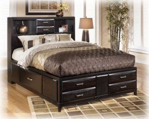 Kira - Almost Black 3 Piece Bed Set (King)