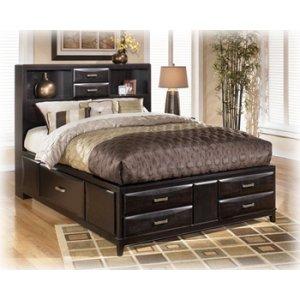 Kira - Almost Black 3 Piece Bed Set (Cal King)