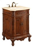 24 in. Single Bathroom Vanity set in Brown Product Image