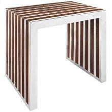 Gridiron Small Wood Inlay Bench in Walnut