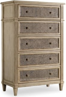 Sanctuary Five Drawer Chest-Pearl Essence