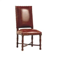 Flamboyan Side Chair W/saddle Leather