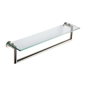 "Polished Nickel 24"" Shelf with Towel Bar"