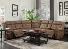 "Anastasia Right Arm Loveseat w/ Console&1 Recliner,76""x40""x42.5"