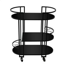 "Metal 3 Tier 32"" Bar Cart, Black"