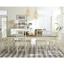 Grand Haven - Rectangular Leg Dining Table - Feathered White/rich Charcoal Finish