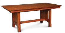 West Lake Trestle Table, Solid Top