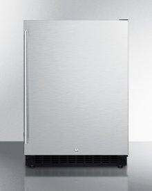 Built-in Undercounter ADA Compliant All-refrigerator With Stainless Steel Door, Black Cabinet, Door Storage, Lock, and Digital Controls
