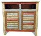 Multi Color Louvered TV 2 Door Product Image