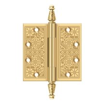 """4 1/2""""x 4 1/2"""" Square Hinges - PVD Polished Brass"""