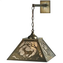 "16""W Deer at Dawn Hanging Wall Sconce"