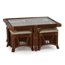 5400 Series Hassock Table With Stools