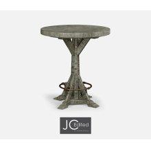 "36"" Antique Dark Grey Bar Table"