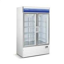 29 cu ft 2 Door Mechandiser Freezer (White)