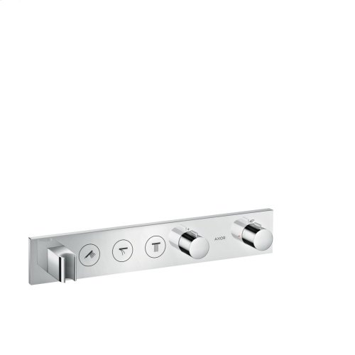 Chrome Thermostatic module Select 530/90 for concealed installation for 3 functions