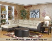 SanMarChocolate/Padded Saddle 2550LFCHS - Left Facing Chaise Product Image