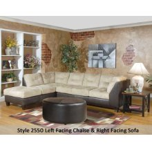 SanMarChocolate/Padded Saddle 2550LFCHS - Left Facing Chaise