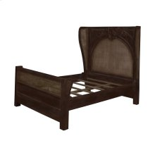 Caned Acanthus Queen Bed