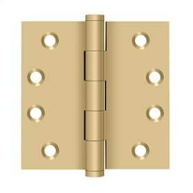 """4""""x 4"""" Square Hinges - Brushed Brass"""