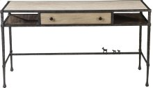 ED Ellen DeGeneres Bonnabel Metal and Stone Desk