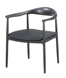 Emerald Home Carlisle Dining Arm Chair Matte Black D244-21