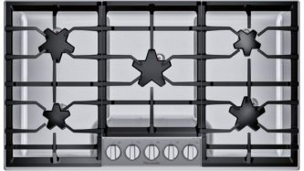 36-Inch Masterpiece(R) Pedestal Star(R) Burner Gas Cooktop, ExtraLow(R) Select SGSXP365TS