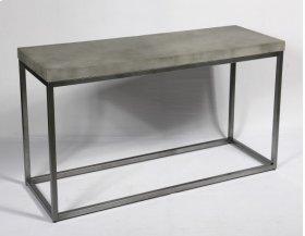 Sofa Table-concrete Top Finish-silver Base-rta