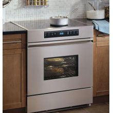 "Renaissance 30"" Electric Range, in Stainless Steel with Black Ceramic Glass Top"