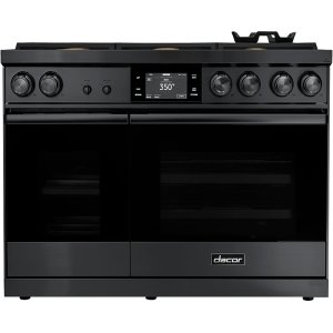 "Dacor48"" Range, Graphite Stainless Steel, Liquid Propane"