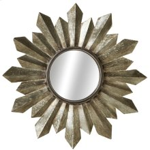 Galvanized Sunburst Wall Mirror.