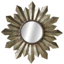 Galvanized Sunburst Wall Mirror.