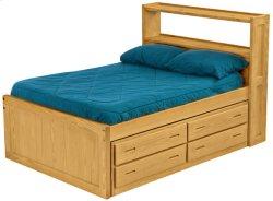 Captain's Bookcase Bed Set, Double, X-long