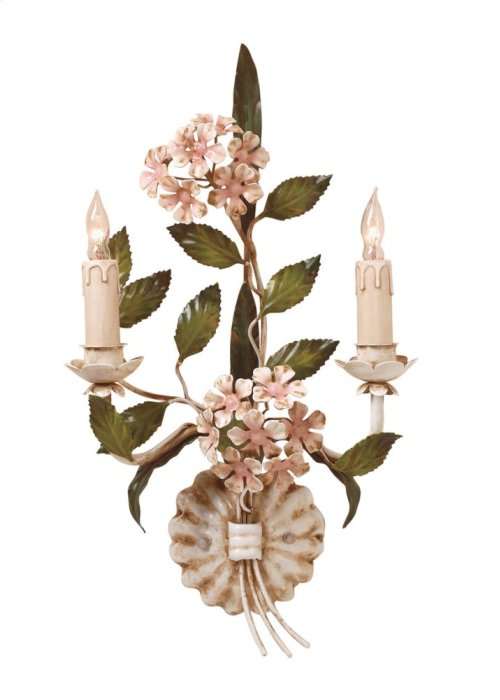Hydrangea Sconce