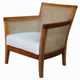 Carter Rattan Arm Chair, Coastal Washed Brown