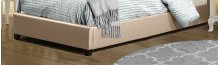 Karley Footboard and Rails - Twin - Embossed Champagne With Glass Button