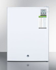 Compact Commercially Listed Manual Defrost All-freezer With External Thermometer and Lock