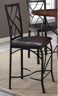 Sanford Merlot Barstool with Brown Seat Product Image
