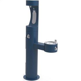 Elkay Outdoor EZH2O Bottle Filling Station Bi-Level Pedestal, Non-Filtered Non-Refrigerated Blue