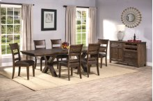 Park Avenue 7-piece Dining Set - Walnut (wirebrush)