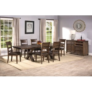 Hillsdale FurniturePark Avenue 7-piece Dining Set - Walnut (wirebrush)
