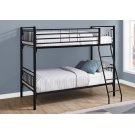 BUNK BED - TWIN / TWIN SIZE / DETACHABLE BLACK METAL Product Image