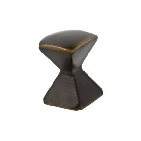 Oil Rubbed Bronze Forged 2 Med Square Knob 7/8 Inch