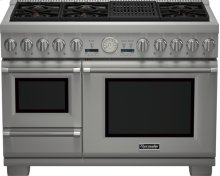 48 inch Professional Series Pro Grand Commercial Depth Dual Fuel Steam Range PRD48NLSGU